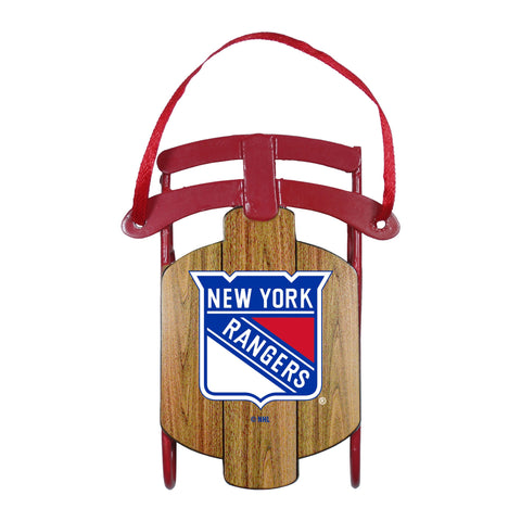 New York Rangers Metal Sled Ornament