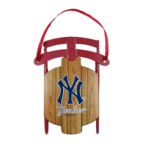 New York Yankees Metal Sled Ornament