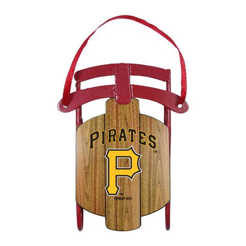 Pittsburgh Pirates Metal Sled Ornament
