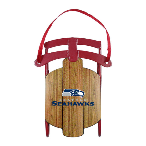 Seattle Seahawks Metal Sled Ornament
