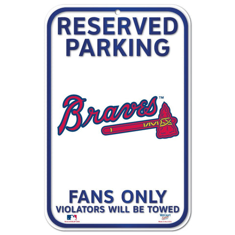 "Atlanta Braves 11""x17"" Plastic Sign"