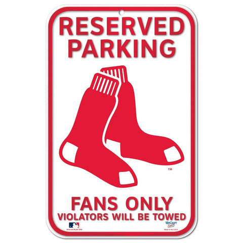 "Boston Red Sox 11""x17"" Plastic Sign"