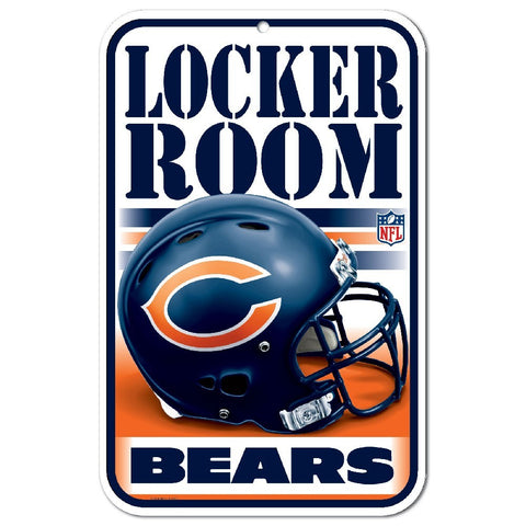 "Chicago Bears 11""x17"" Plastic Sign"