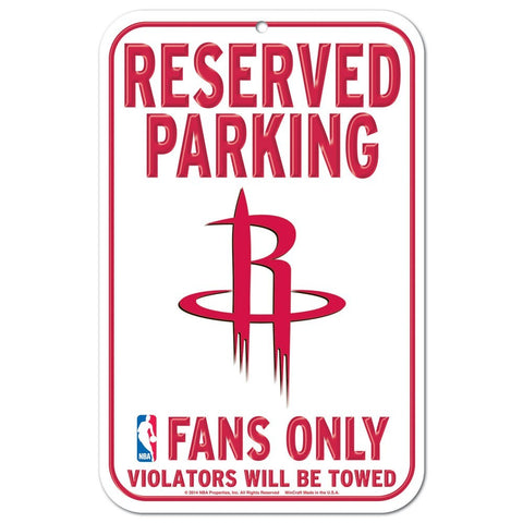 "Houston Rockets 11""x17"" Plastic Sign"