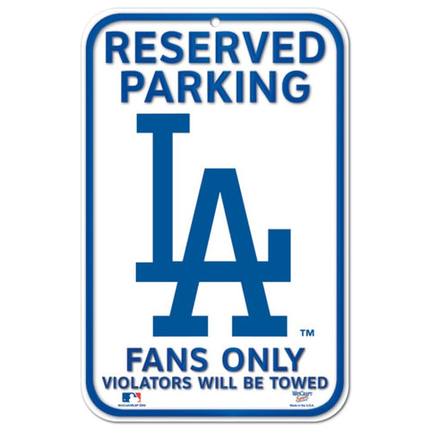 "Los Angeles Dodgers 11""x17"" Plastic Sign"
