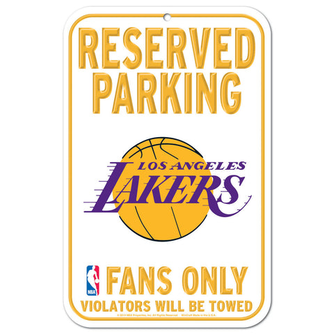 "Los Angeles Lakers 11""x17"" Plastic Sign"