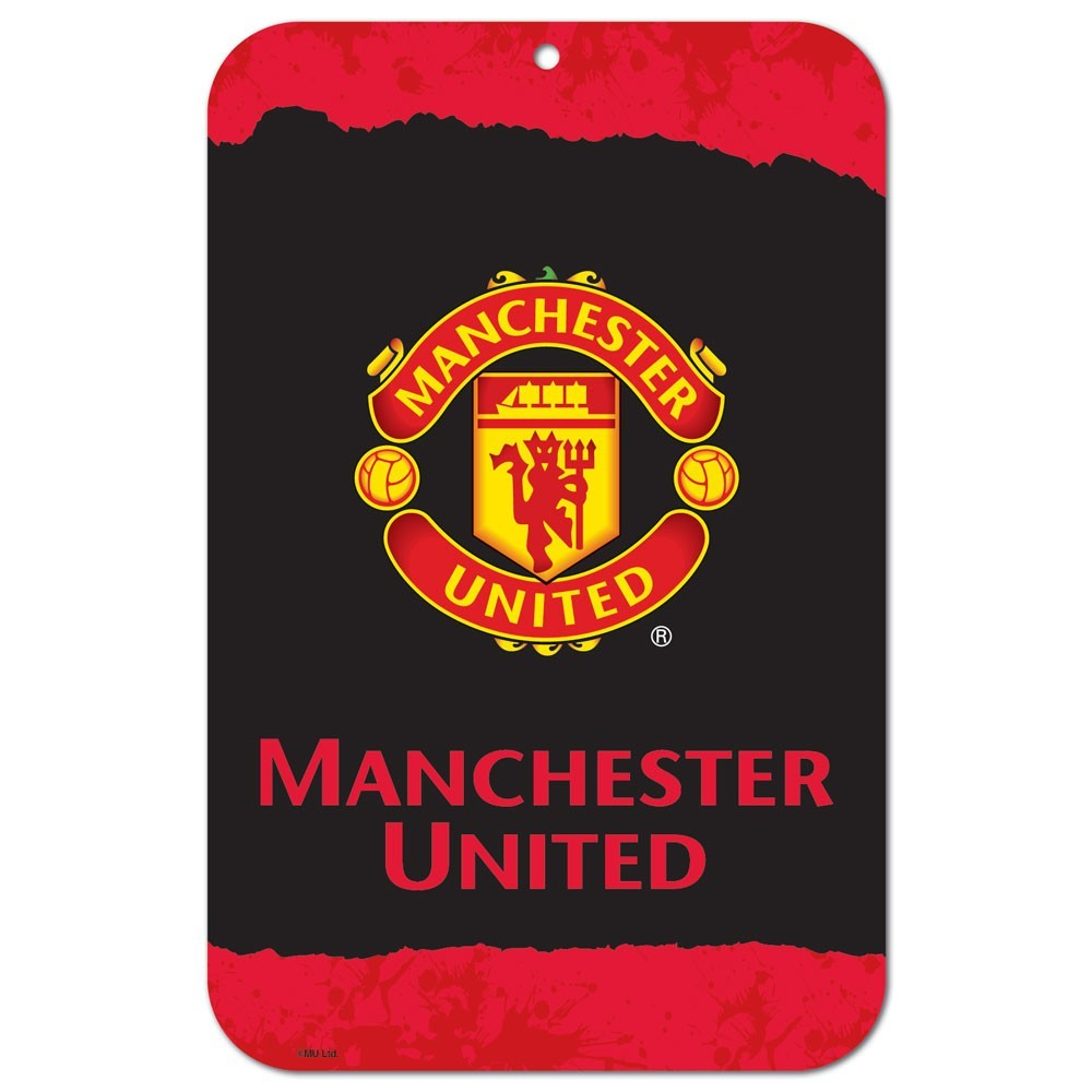 "Manchester United 11""x17"" Plastic Sign"