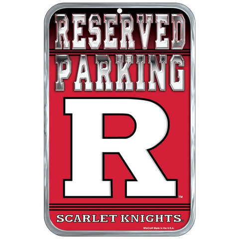 "Rutgers Scarlet Knights 11""x17"" Plastic Sign"