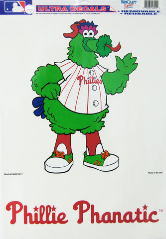 "11""x17""  Ultra Decal Phillie Phanatic Philadelphia Phillies"