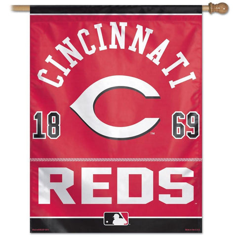 Cincinnati Reds 27x37 Vertical Flags