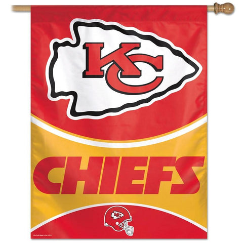 Kansas City Chiefs 27x37 Vertical Flags