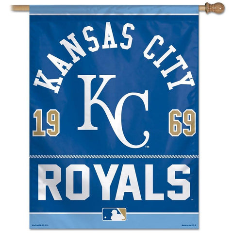 Kansas City Royals 27x37 Vertical Flags