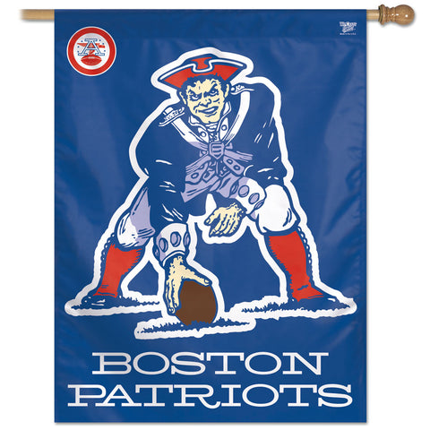 New England Patriots Retro 27x37 Vertical Flag