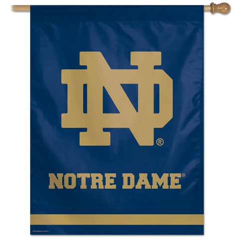 Notre Dame Fighting Irish 27x37 Vertical Flags