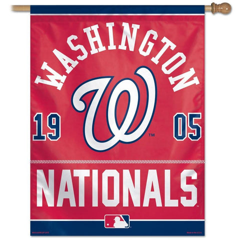 Washington Nationals 27x37 Vertical Flags