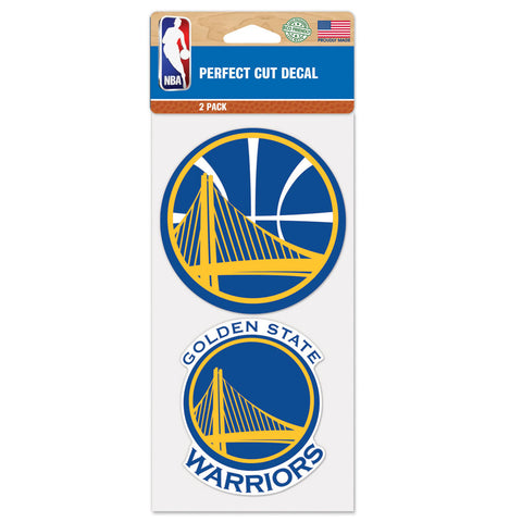 Golden State Warriors 2 Pk Color Decal Set