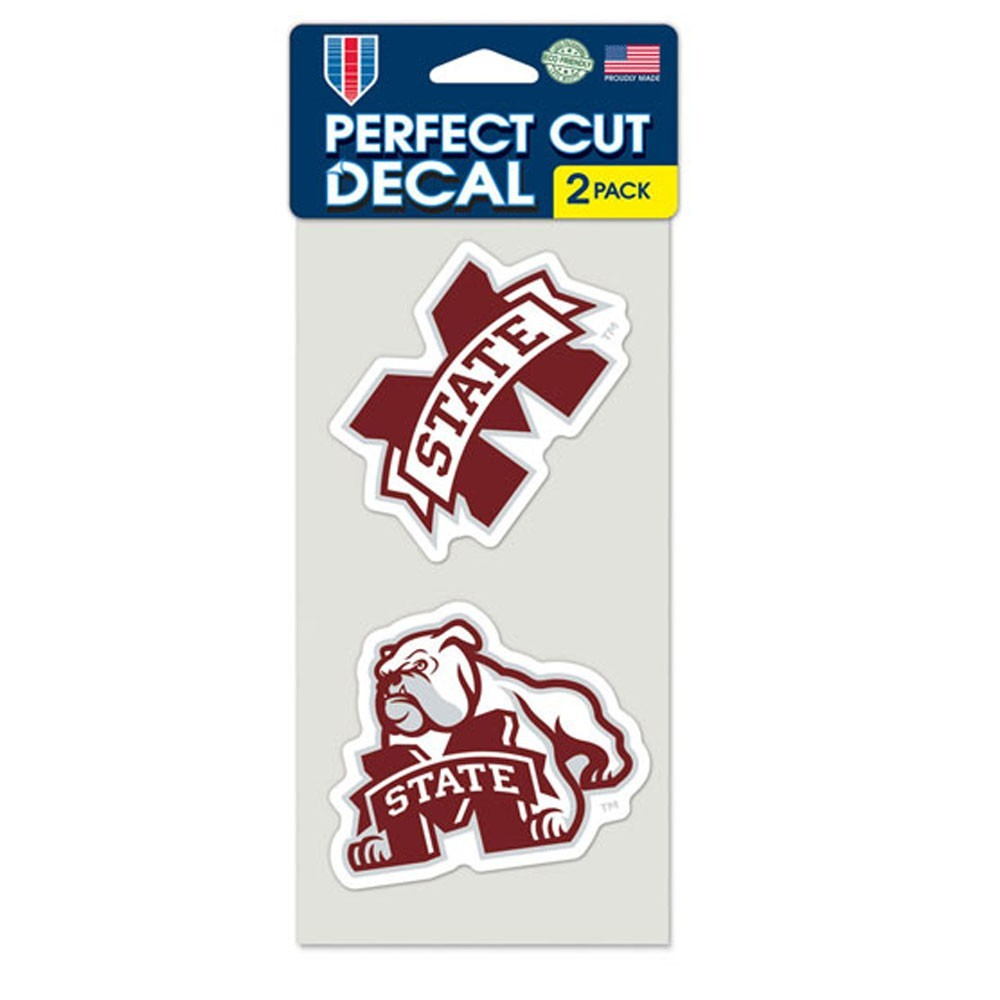 Mississippi State Bulldogs 2 Pk Color Decal Set