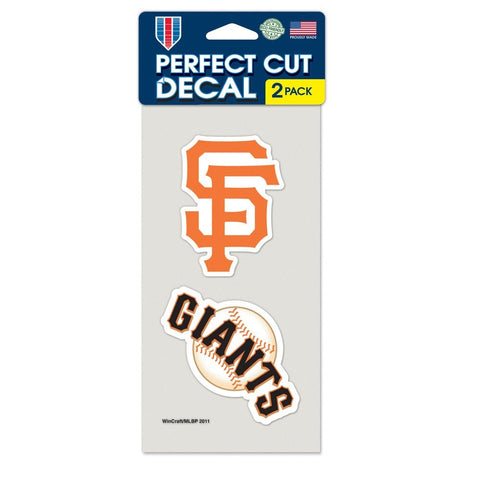 San Francisco Giants 2 Pk Color Decal Set