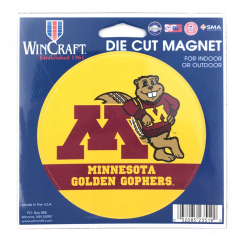 "Minnesota Golden Gophers 4.5"" DieCut Logo Magnet"
