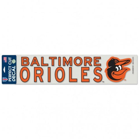 "Baltimore Orioles 4""x17"" Decal Color"