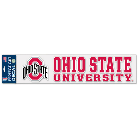 "Ohio State Buckeyes 4""x17"" Decal Color"