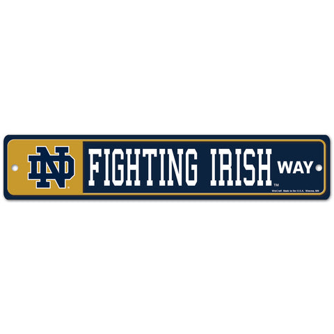 "Notre Dame Fighting Irish 4"" X 19"" Street Sign"
