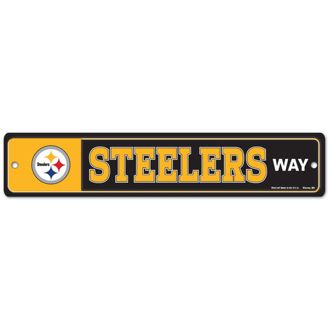 "Pittsburgh Steelers 4"" X 19"" Street Sign"