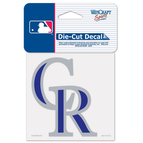 "Colorado Rockies 4""x4"" DieCut Decal Logo"