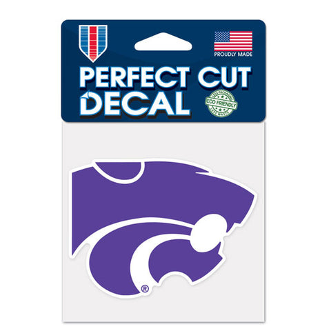 "Kansas State Wildcats 4""x4"" DieCut Decal Logo"