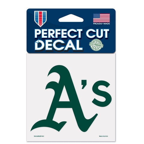 "Oakland Athletics 4""x4"" DieCut Decal Logo"
