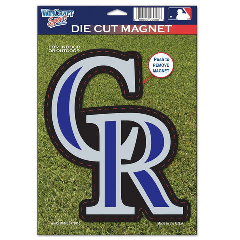 "Colorado Rockies 8"" Die Cut Magnet"