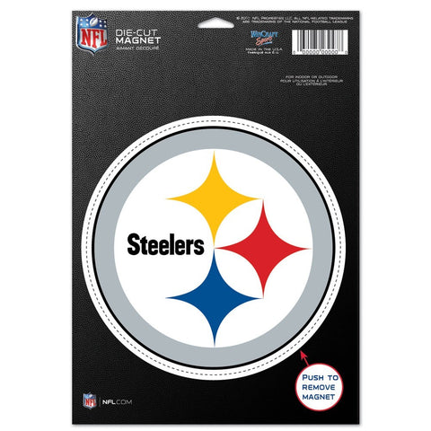 "Pittsburgh Steelers 8"" Die Cut Magnet"