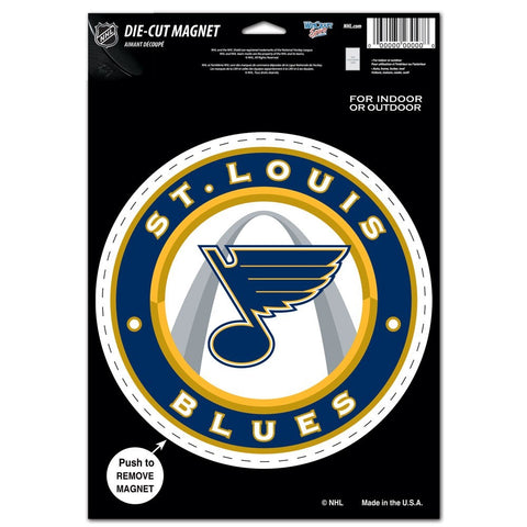 "St. Louis Blues 8"" Die Cut Magnet"