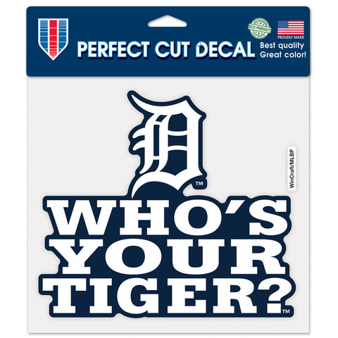 "Detroit Tigers 8""X8"" Decal Color"