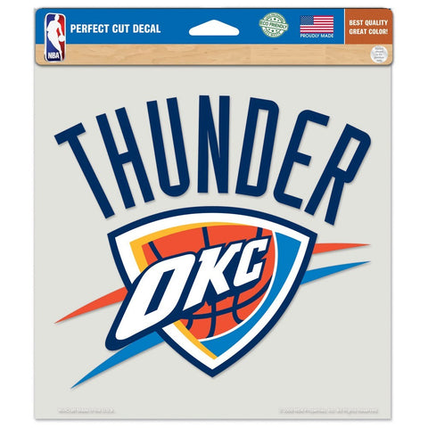 "Oklahoma City Thunder 8""X8"" Decal Color"