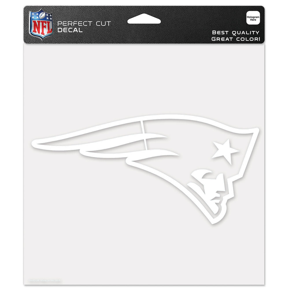 "New England Patriots 8""x8"" Decal White"