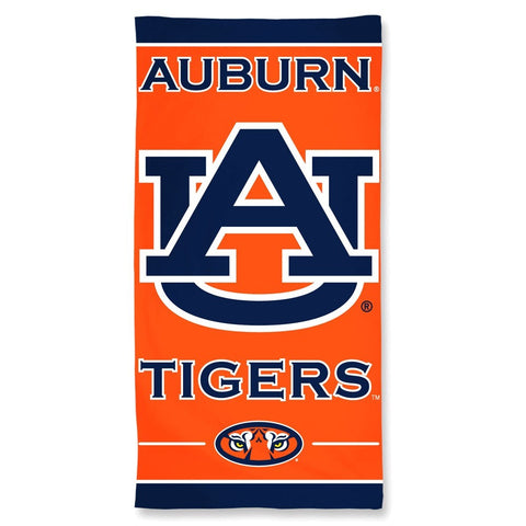 Auburn Tigers Center Logo Beach Towel
