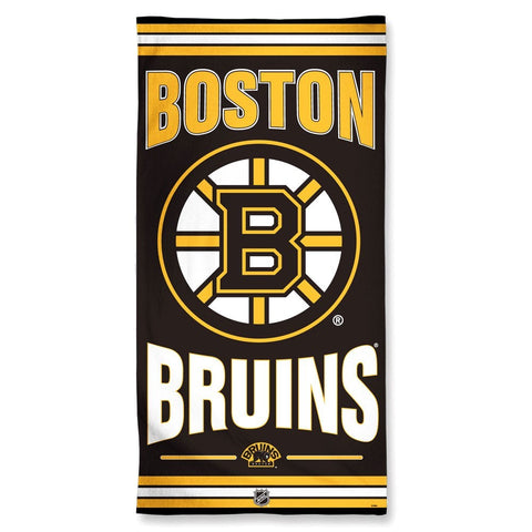 Boston Bruins Center Logo Beach Towel