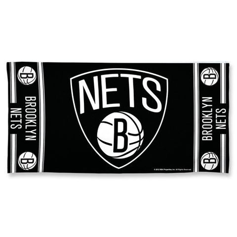 Brooklyn Nets Center Logo Beach Towel