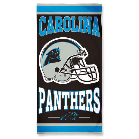 Carolina Panthers Center Logo Beach Towel