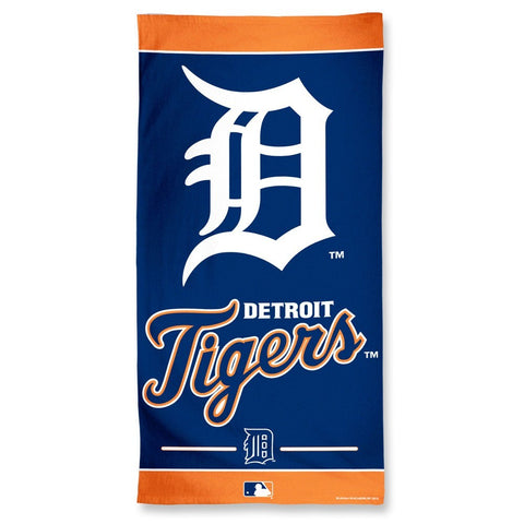 Detroit Tigers Center Logo Beach Towel