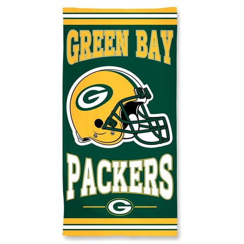 Green Bay Packers Center Logo Beach Towel