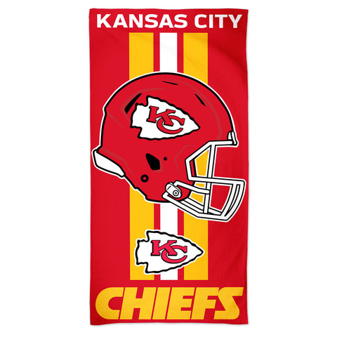 Kansas City Chiefs Center Logo Beach Towel