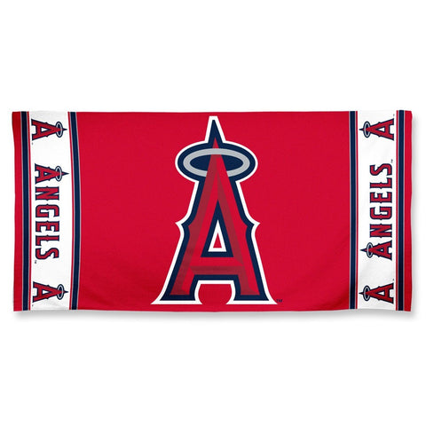 Los Angeles Angels Center Logo Beach Towel