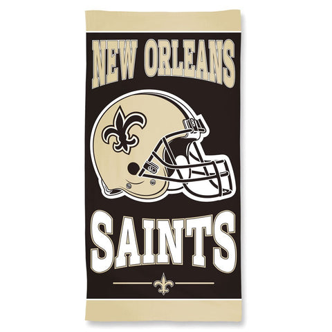 New Orleans Saints Center Logo Beach Towel