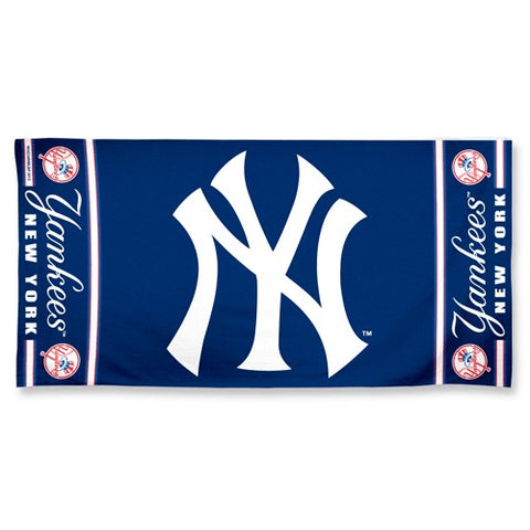 New York Yankees Center Logo Beach Towel