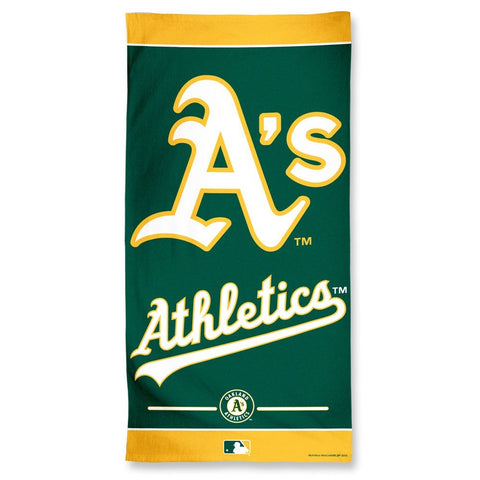 Oakland Athletics Center Logo Beach Towel