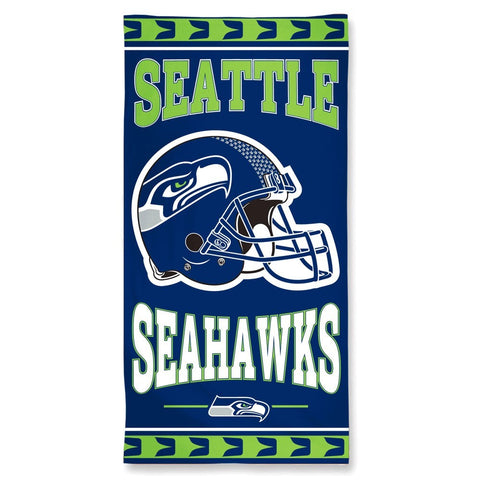 Seattle Seahawks Center Logo Beach Towel