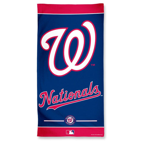 Washington Nationals Center Logo Beach Towel