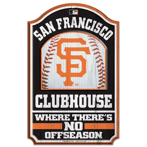 San Francisco Giants Fan Cave Wood Sign